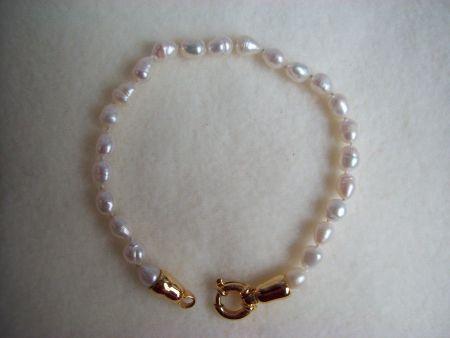 zoetwater parel armband wit goud sluiting echte natuurparels